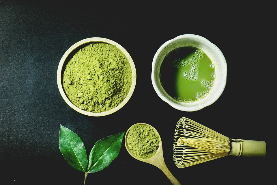 Matcha green tea in Japan