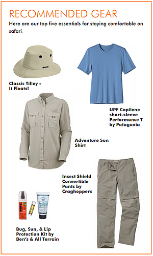 safari gear, how to pack for a safari, Travel Africa, Africa Safari Guide, Luxury African Safari